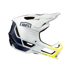 100% Trajecta Fietshelm, white/navy